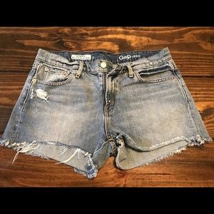 Gap denim cut off shorts